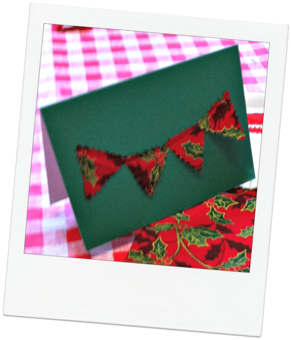 bunting christmas card