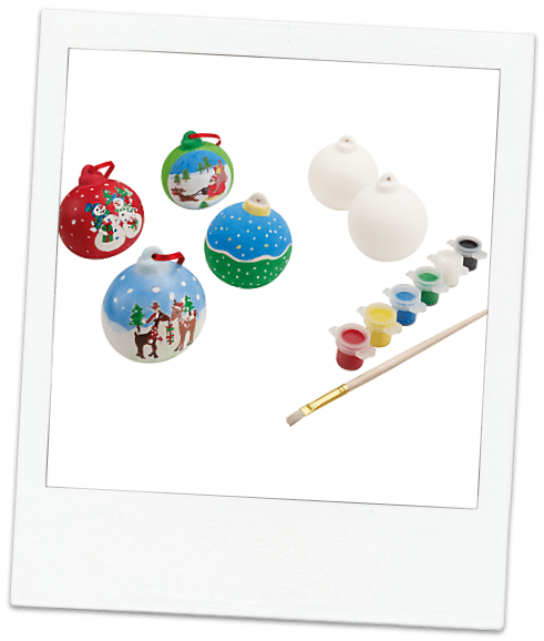 painted baubles