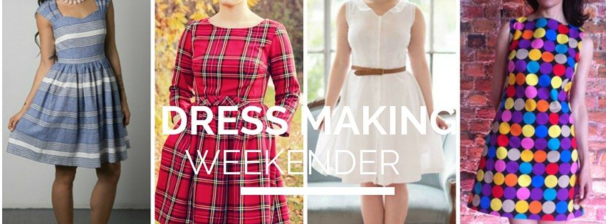 Dressmaking Weekender- Make a fitted frock. Intermediate dressmaking course in Stoke Newington North London