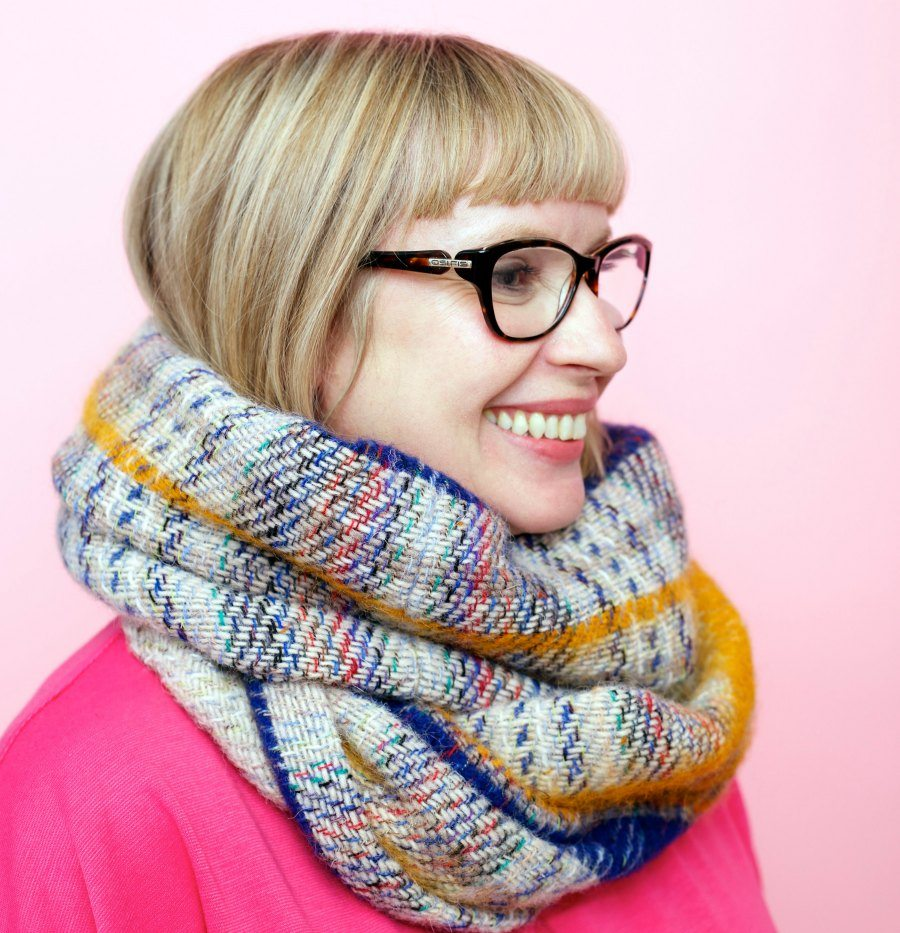 Learn to sew make a cosy infinity scarf