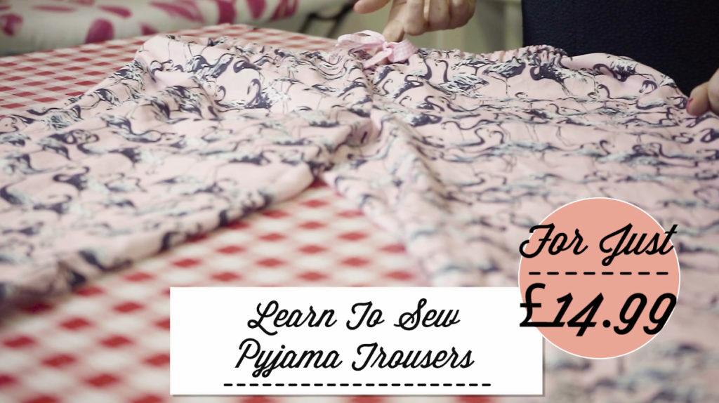 learn to sew pyjama trousers