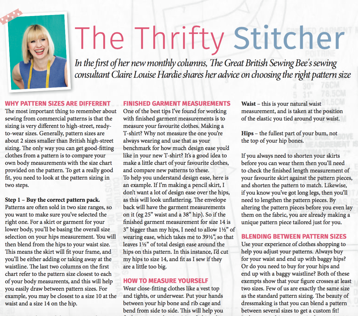 My first ever Magazine column in Love Sewing Mag